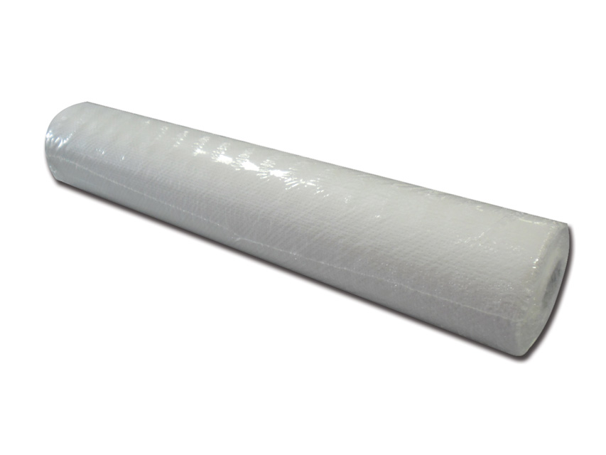 LENZUOLINO POLITENATO GOFFRATO - 50 cm x 50 m - bianco
