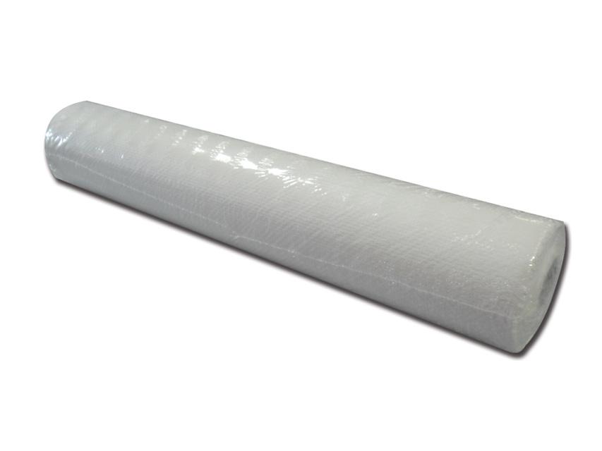 LENZUOLINO POLITENATO GOFFRATO - 60 cm x 50 m - bianco