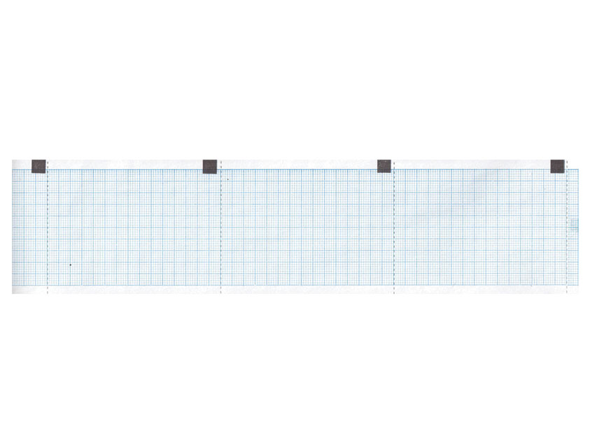 ROTOLO CARTA TERMICA ECG - griglia blu - 60 mm x 15 m