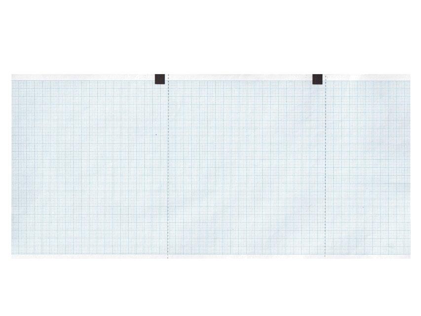 ROTOLO CARTA TERMICA ECG - griglia blu - 120 mm x 18 m